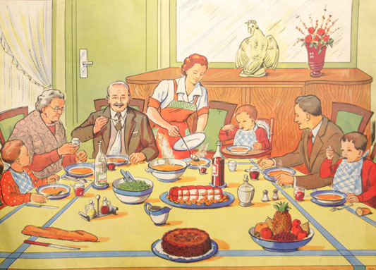 Le repas familial les collections table for Idee repas convivial en famille