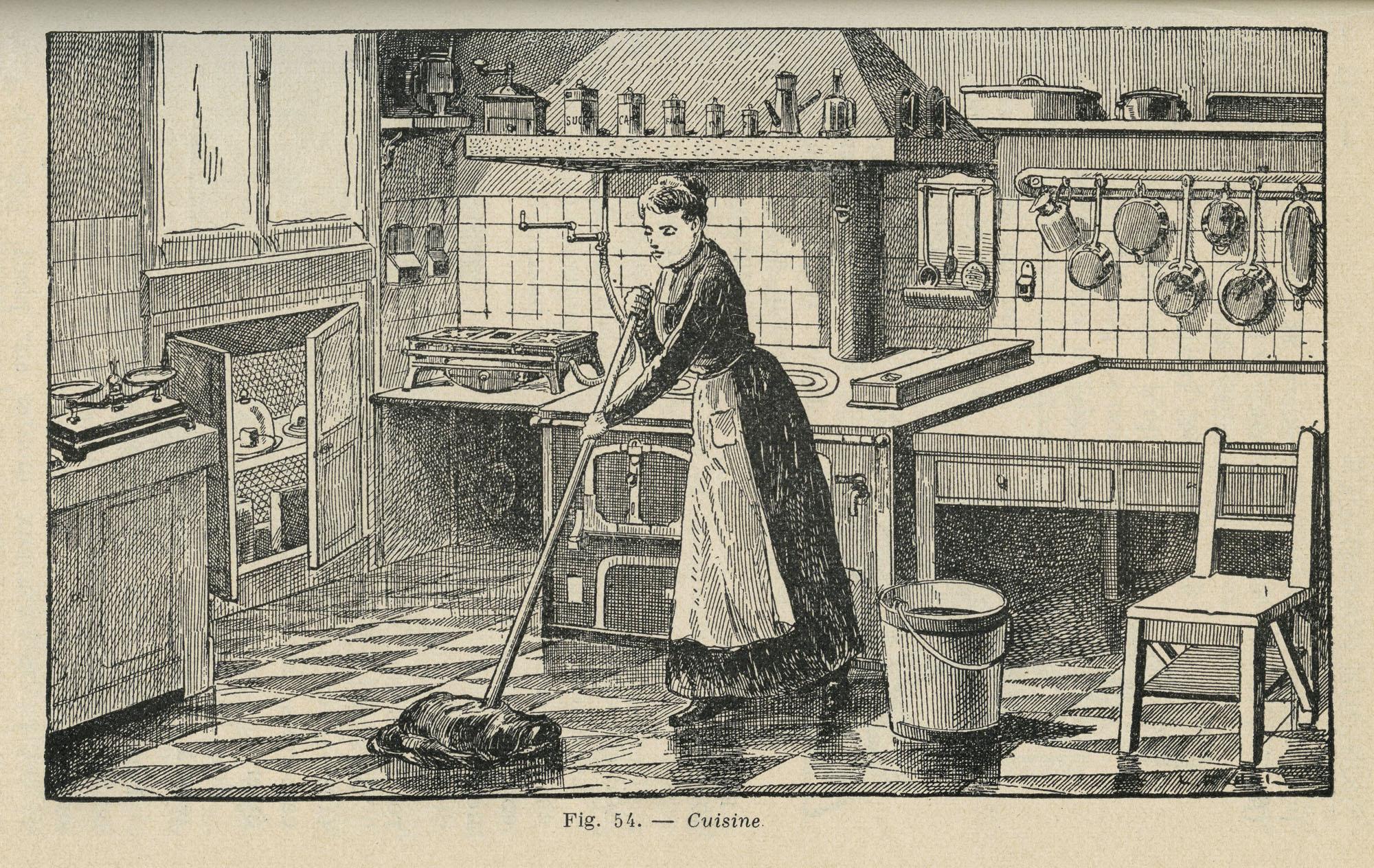 Une cuisine fonctionnelle les collections table for Femme au foyer 1900