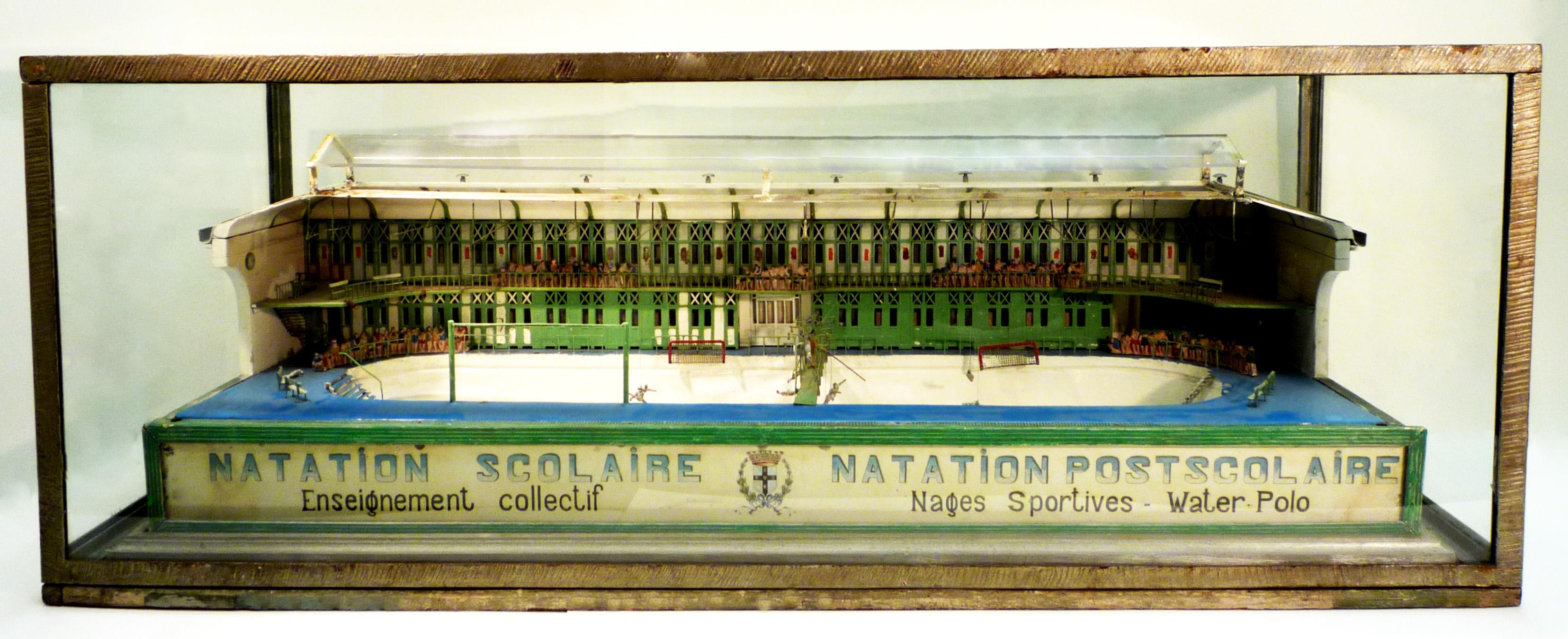 Maquette de la piscine municipale de tourcoing loisirs for Piscine 20eme